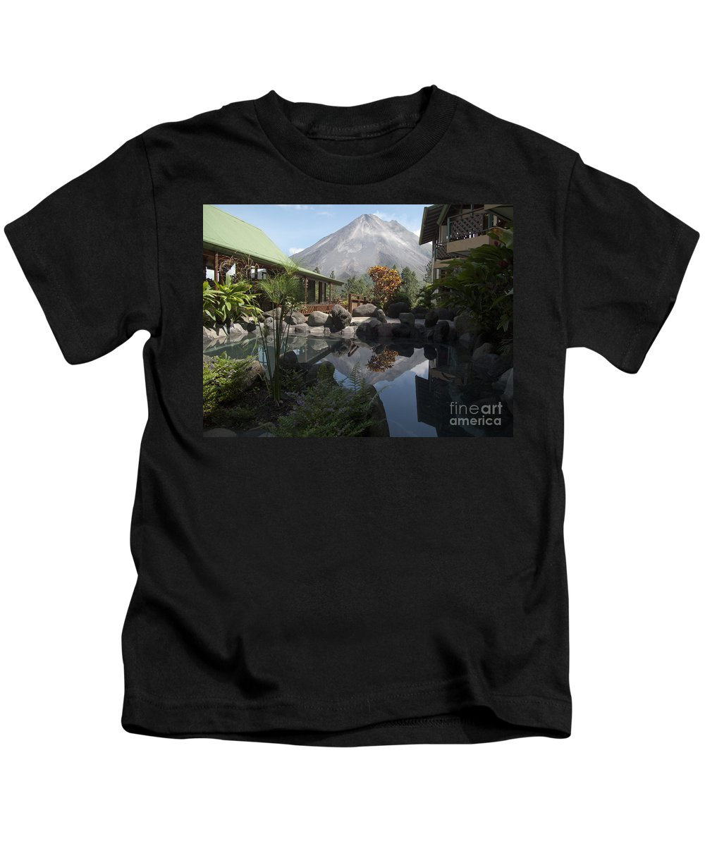 Heiko Kids T-Shirt featuring the photograph Viewing Arenal Volcano by Heiko Koehrer-Wagner