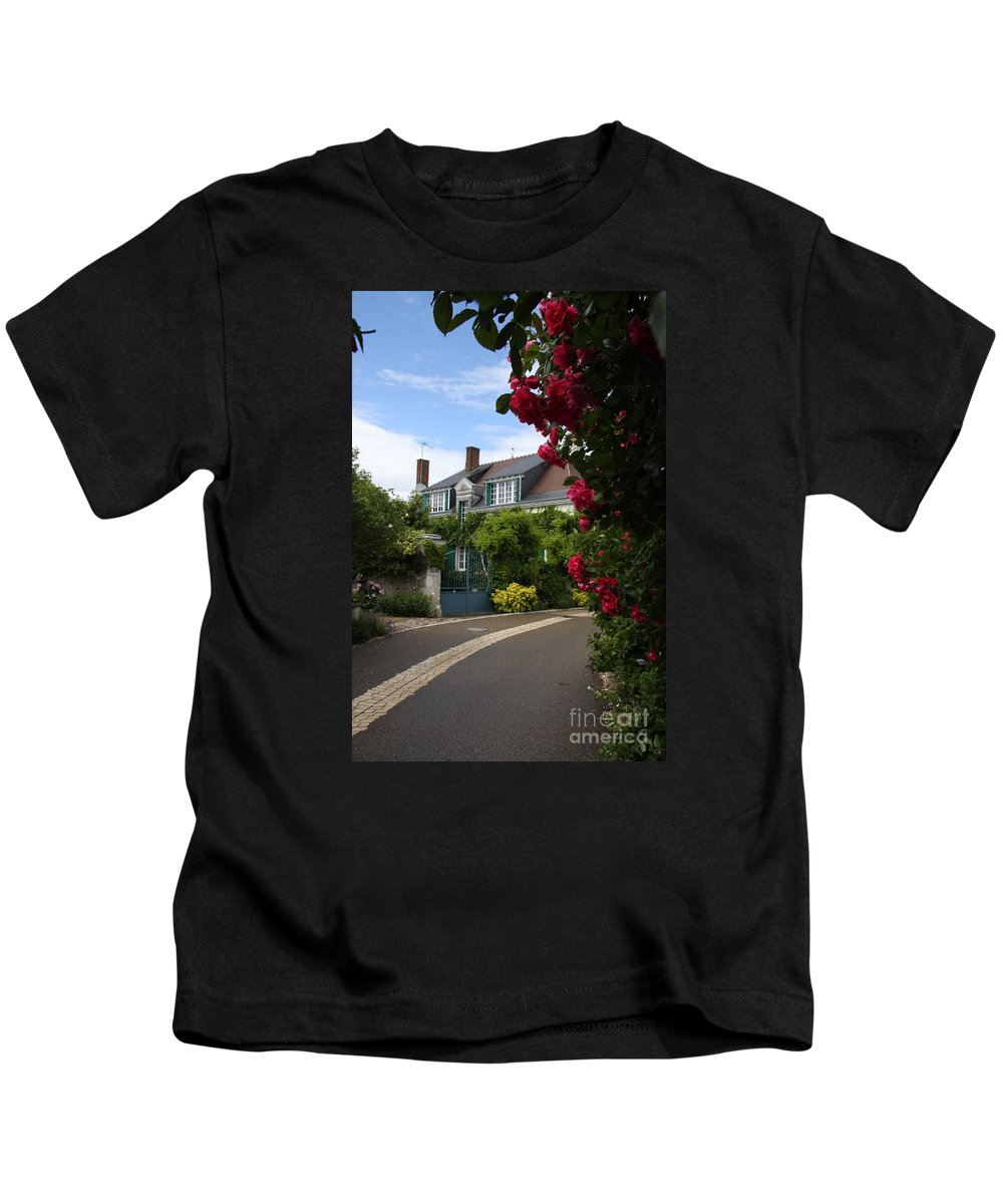 Village Kids T-Shirt featuring the photograph Ville De Fleur - France by Christiane Schulze Art And Photography