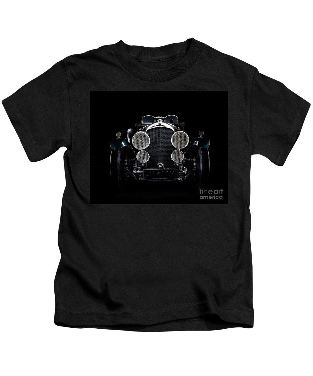 Bentley Kids T-Shirt featuring the photograph Vintage Bentley 4.5 Liter by Frank Kletschkus