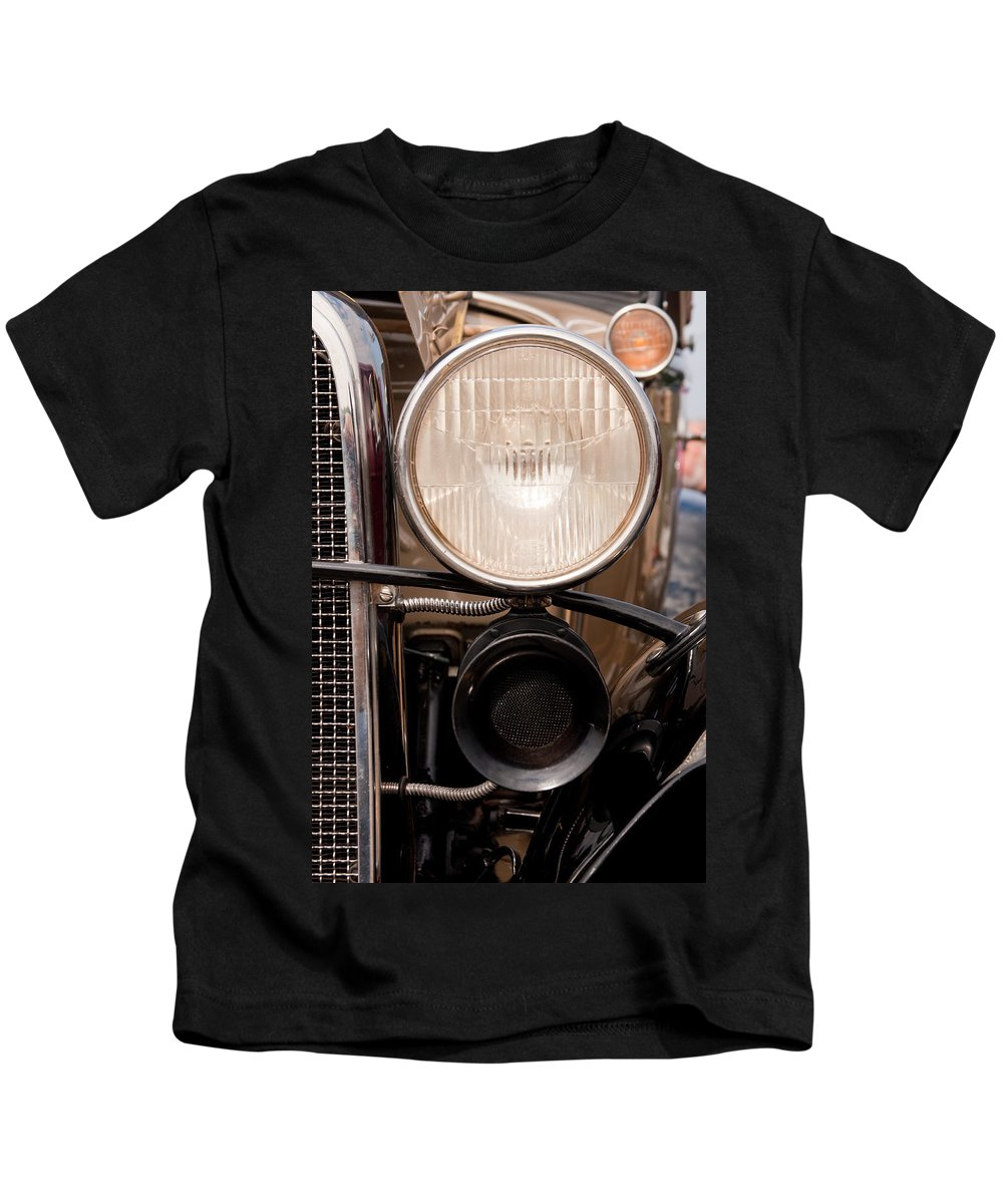 Car Kids T-Shirt featuring the photograph Vintage Car Details 6295 by Brent L Ander