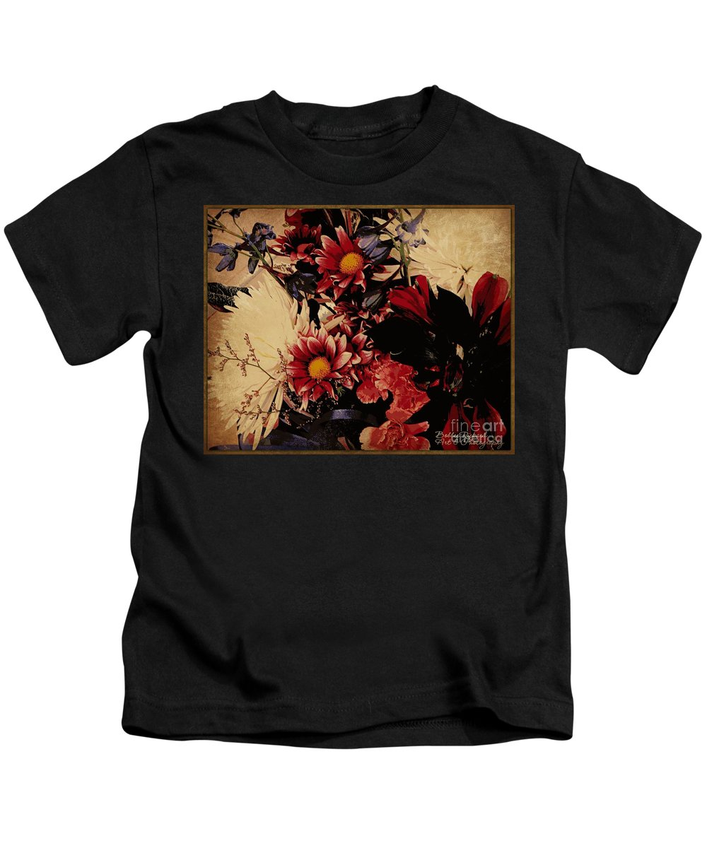 Floral Kids T-Shirt featuring the photograph Vintage Floral Beauty by Bobbee Rickard