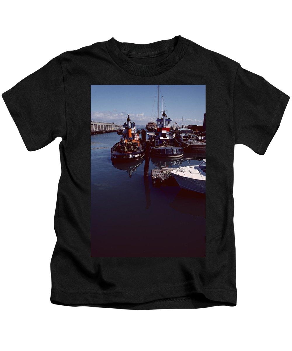 Vintage Kids T-Shirt featuring the photograph Vintage San Francisco Waterfront by David Hohmann