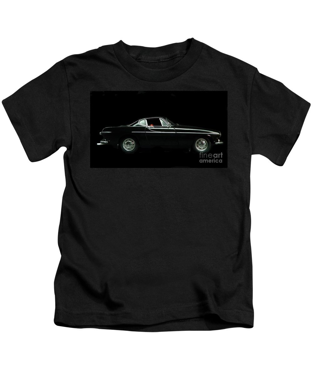 Car Art Kids T-Shirt featuring the photograph Volvo P1800s by Declan Leddy