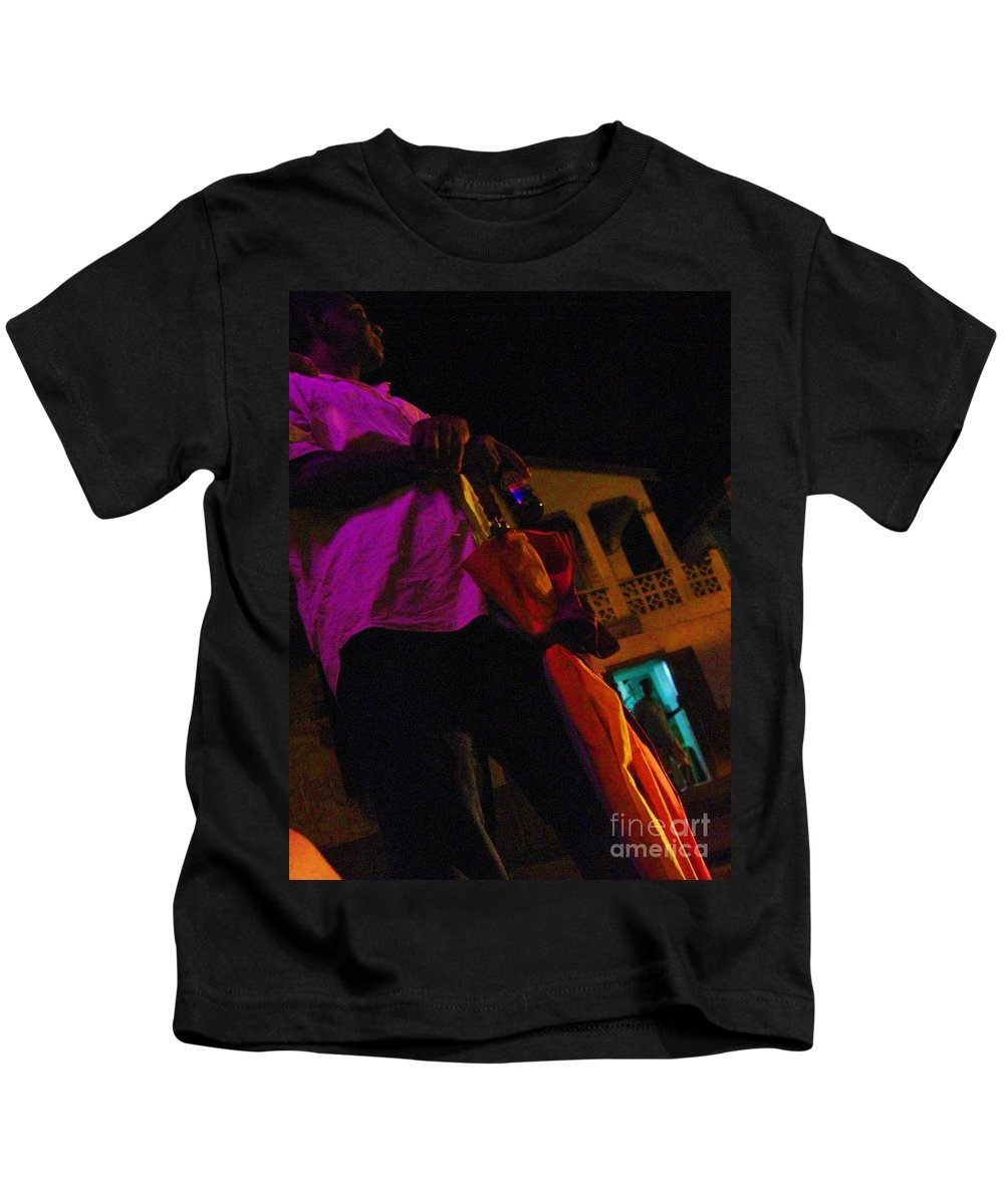 Man Kids T-Shirt featuring the photograph Waiting For The Bus by Janell R Colburn