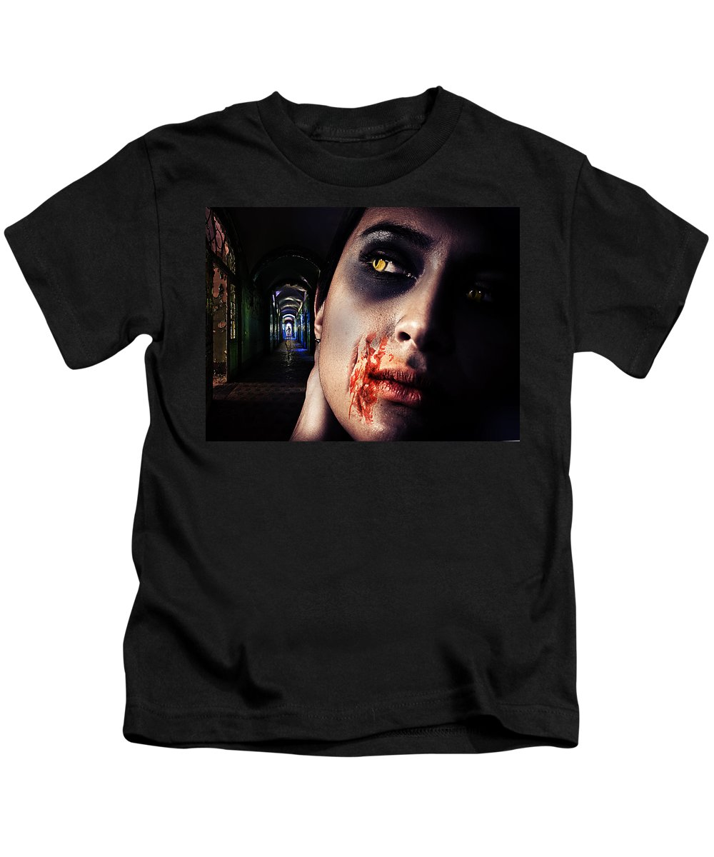 Antique Kids T-Shirt featuring the digital art Waiting For You by Nathan Wright