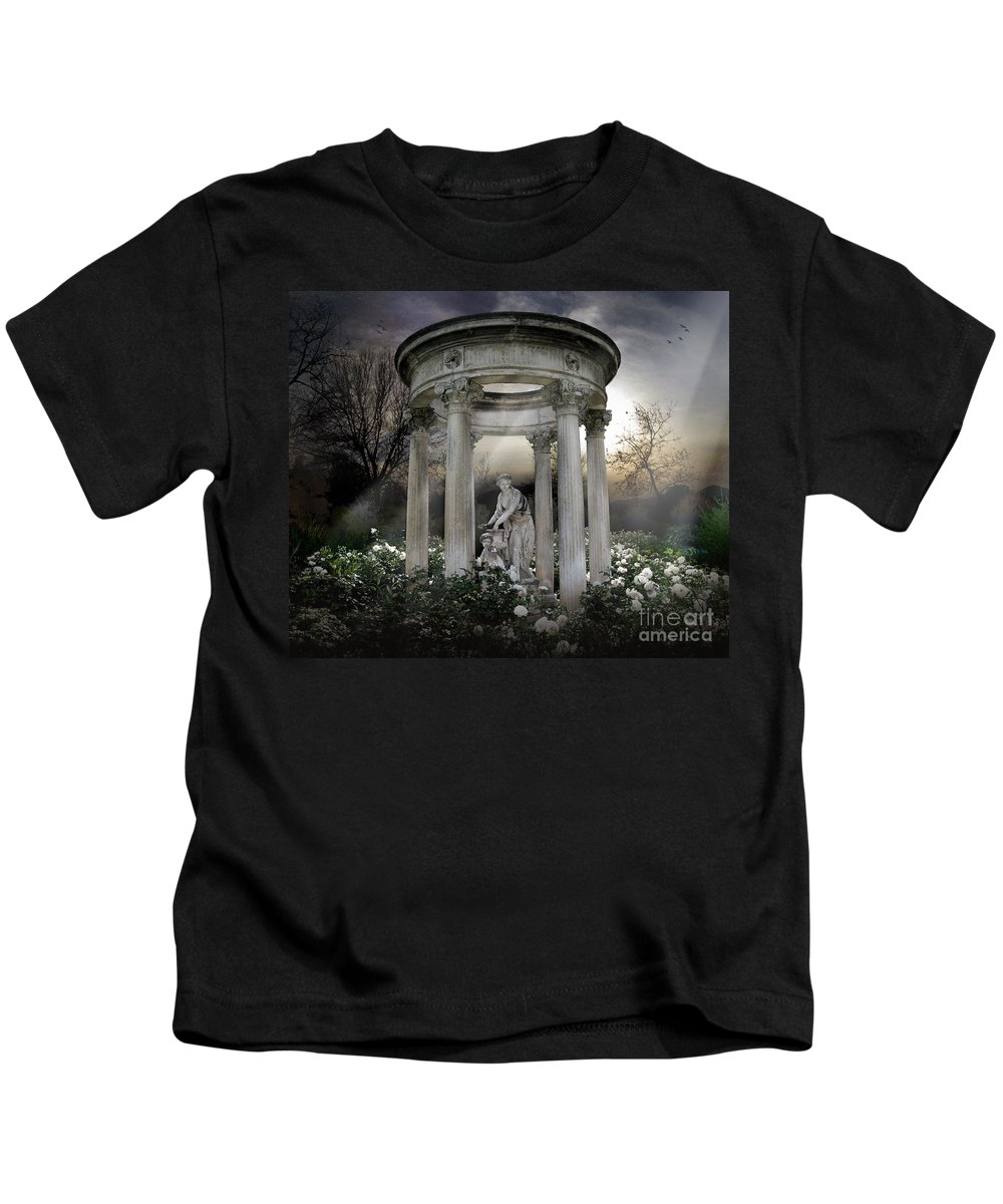Photo Kids T-Shirt featuring the photograph Wake Up My Sleepy White Roses - Sunlight Version by Peter Awax