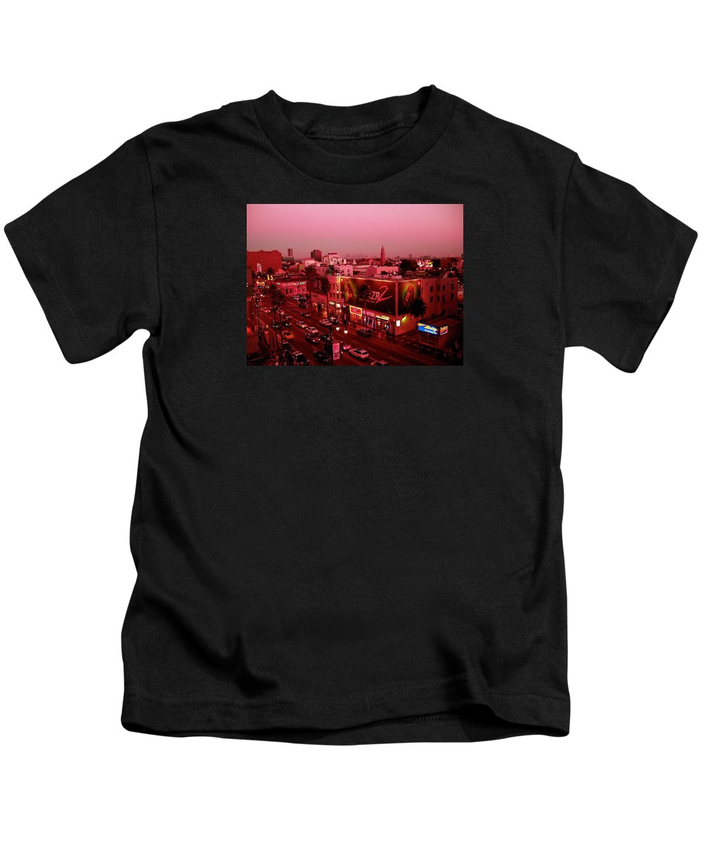 Hollywood Prints Kids T-Shirt featuring the photograph Walk Of Fame In Pink by Monique's Fine Art