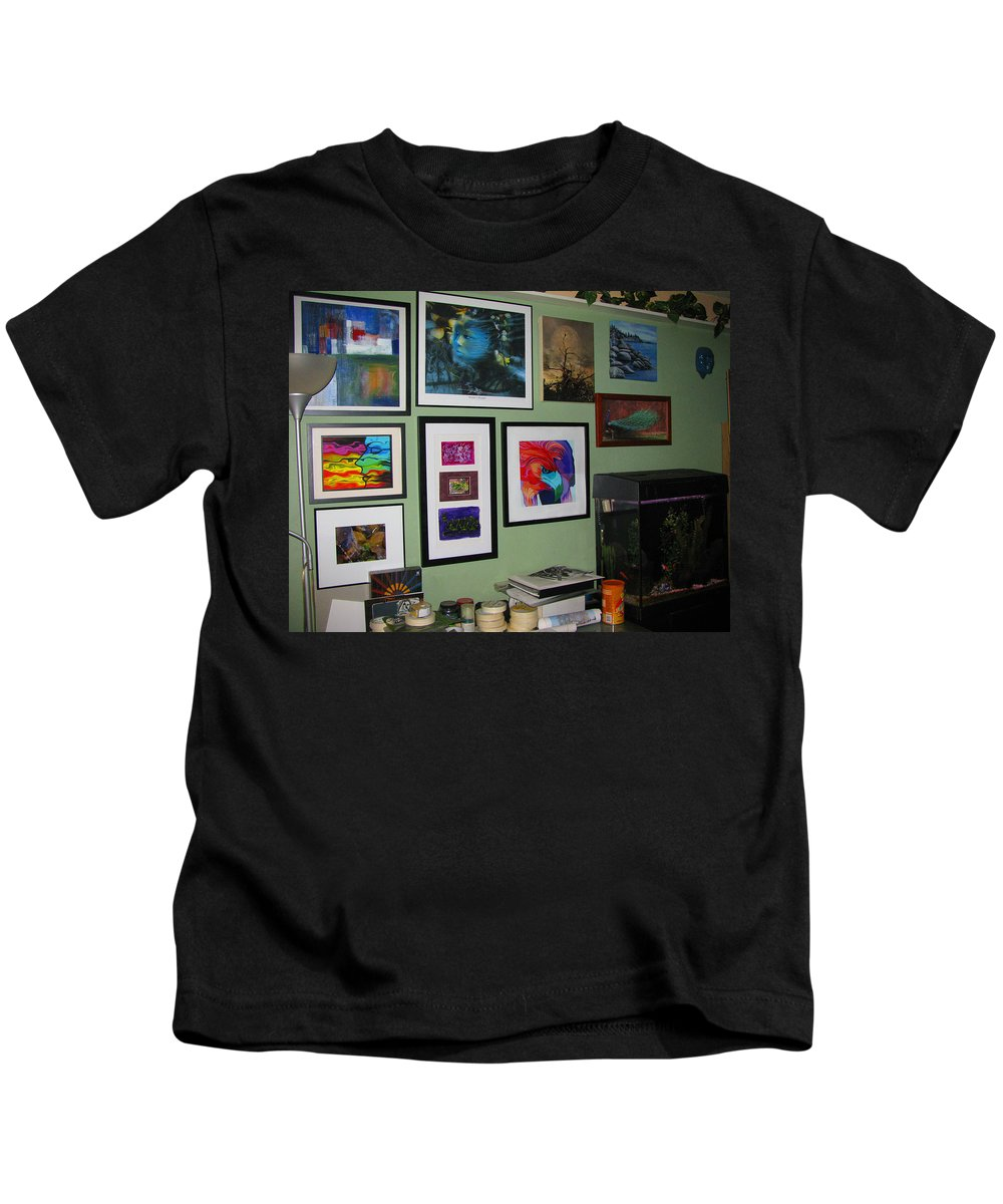 None Kids T-Shirt featuring the photograph Wall Of Framed by Peter Piatt