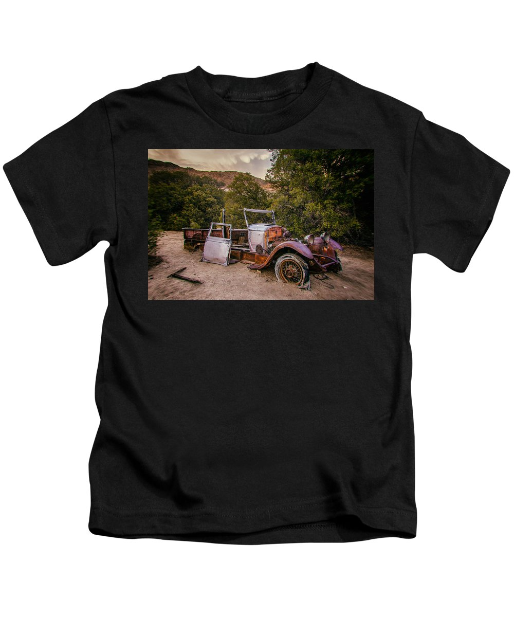 Abandoned Kids T-Shirt featuring the photograph Wall Street Mine Pickup by Peter Tellone