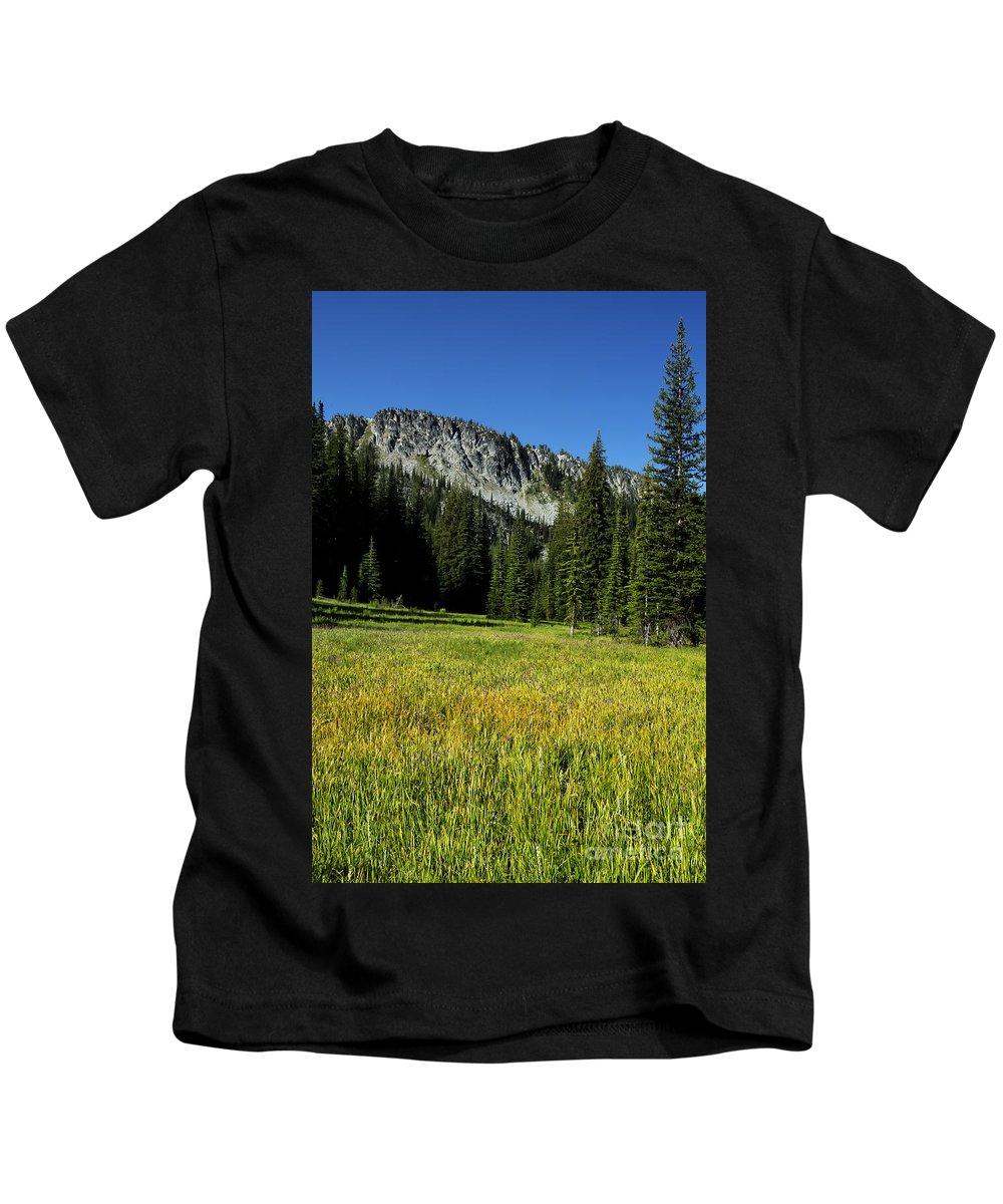 Wallowa Kids T-Shirt featuring the photograph Wallowas - No. 4 by Belinda Greb