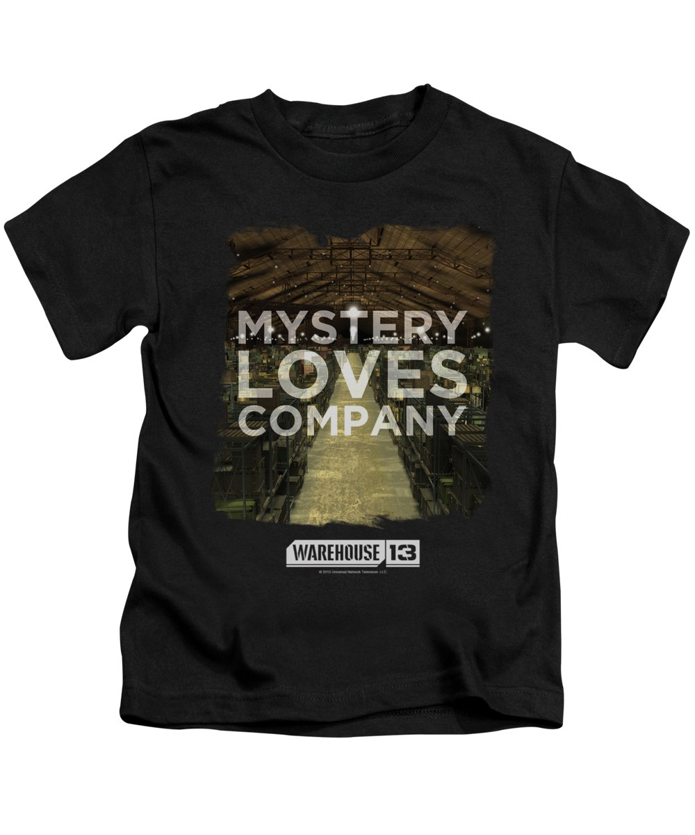 Warehouse 13 Kids T-Shirt featuring the digital art Warehouse 13 - Mystery Loves by Brand A