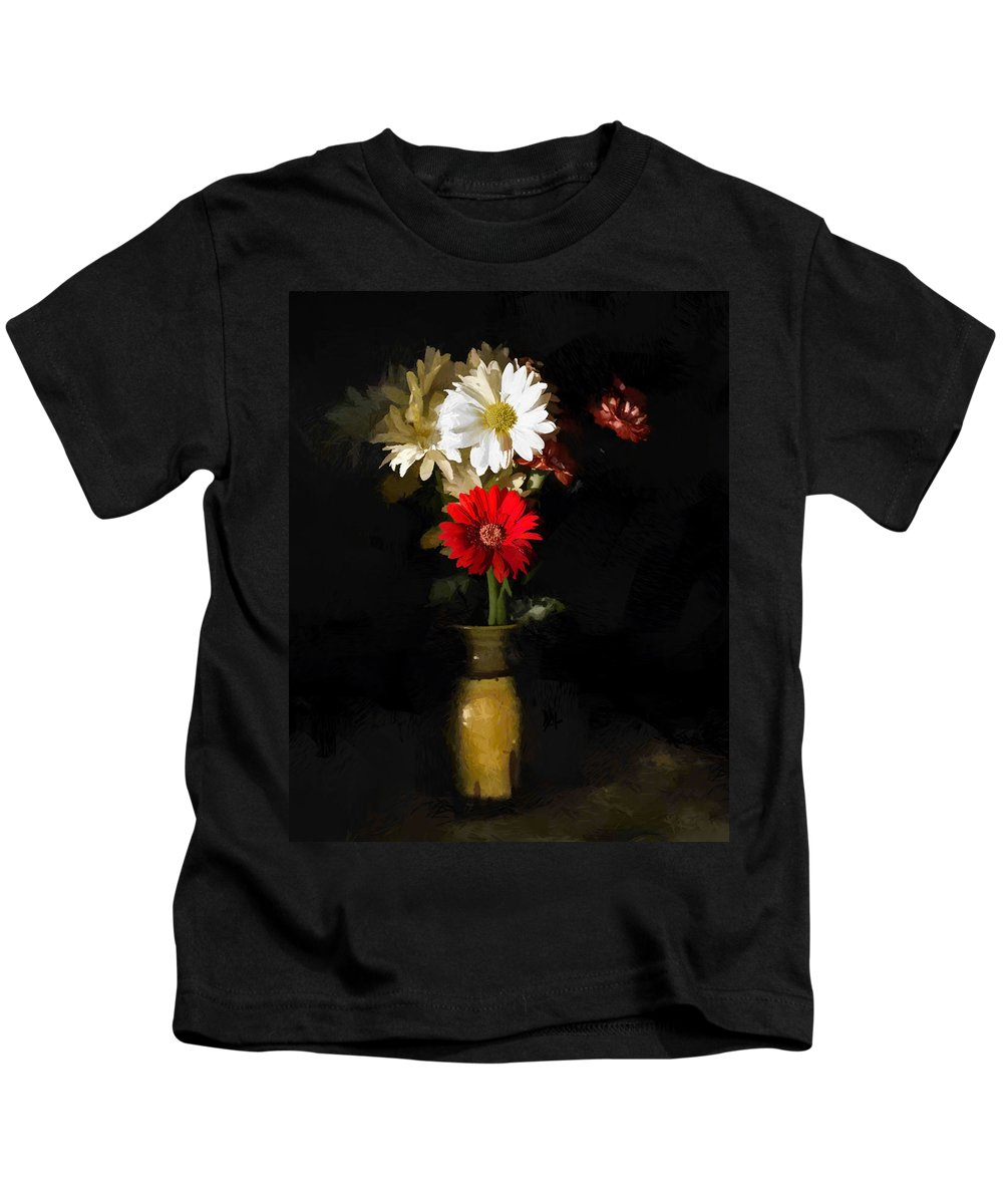 Flower Kids T-Shirt featuring the digital art Warm Sun by Diane Dugas