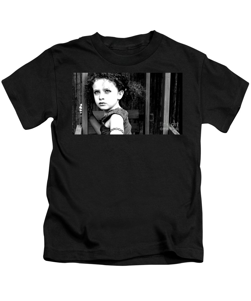Child Kids T-Shirt featuring the photograph Warrior Princess by Charlotte Stevenson