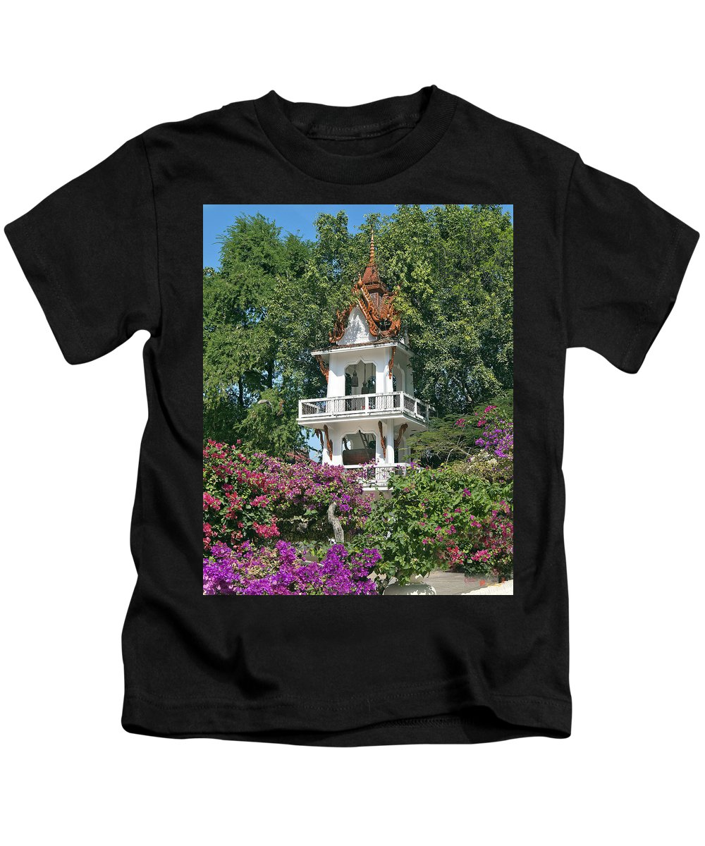 Drum Tower Kids T-Shirt featuring the photograph Wat Mahawanaram Bell And Drum Tower Dthu661 by Gerry Gantt