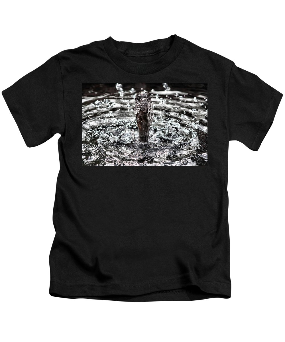 Water Dance Kids T-Shirt featuring the photograph Water Dance by Ely Arsha