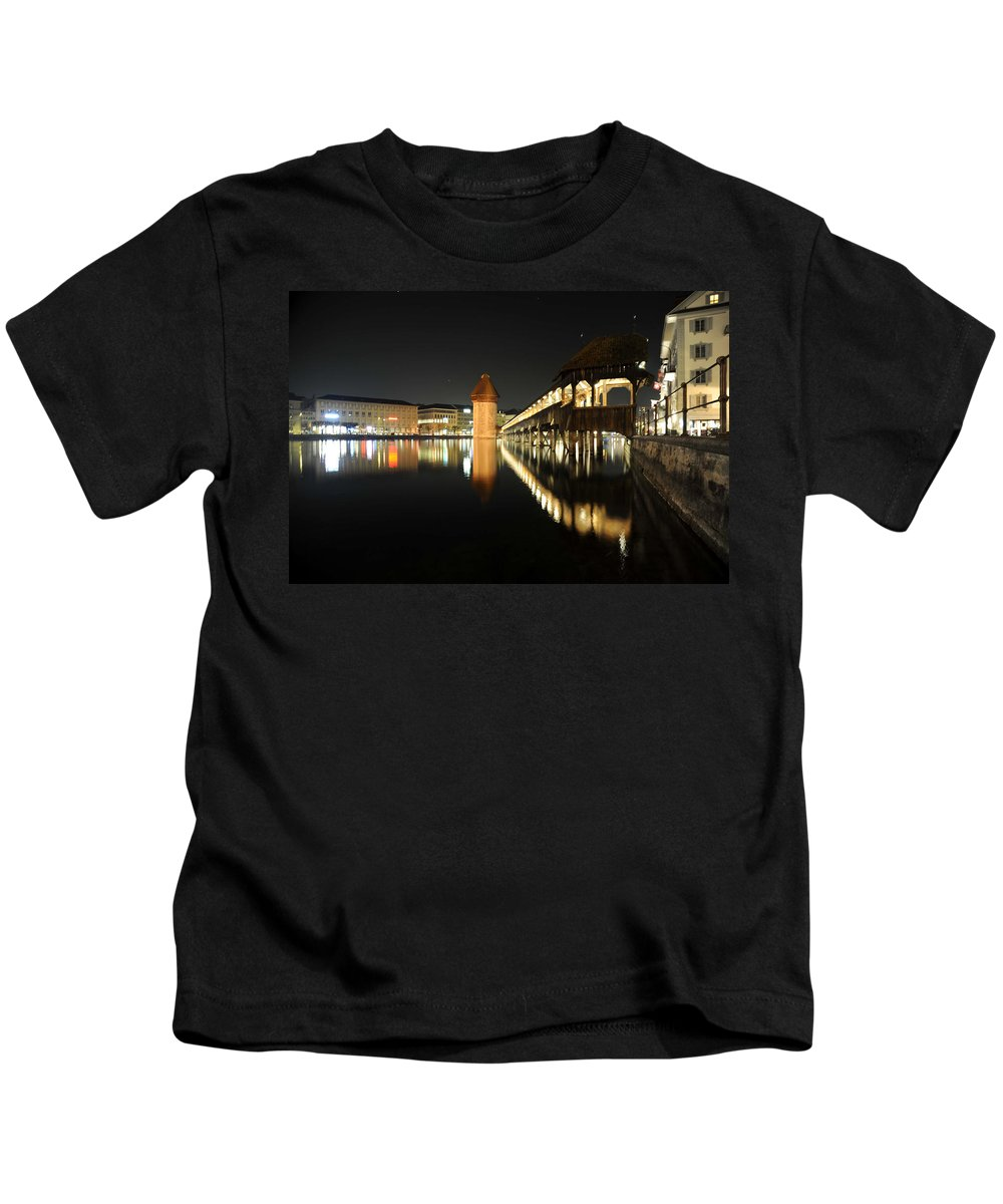 Landscape Kids T-Shirt featuring the photograph Water Tower by Richard Gehlbach