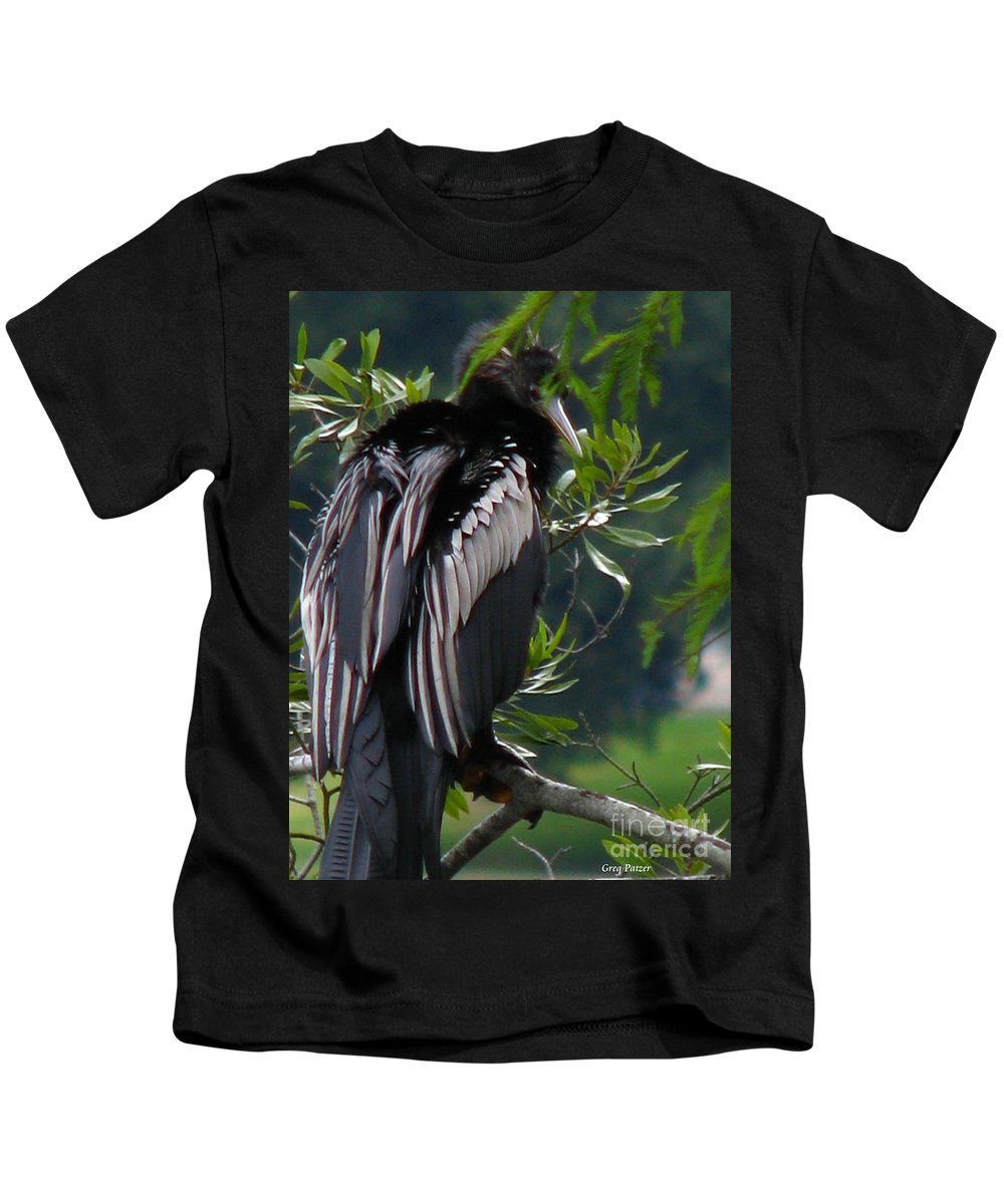 Patzer Kids T-Shirt featuring the photograph Water Turkey by Greg Patzer
