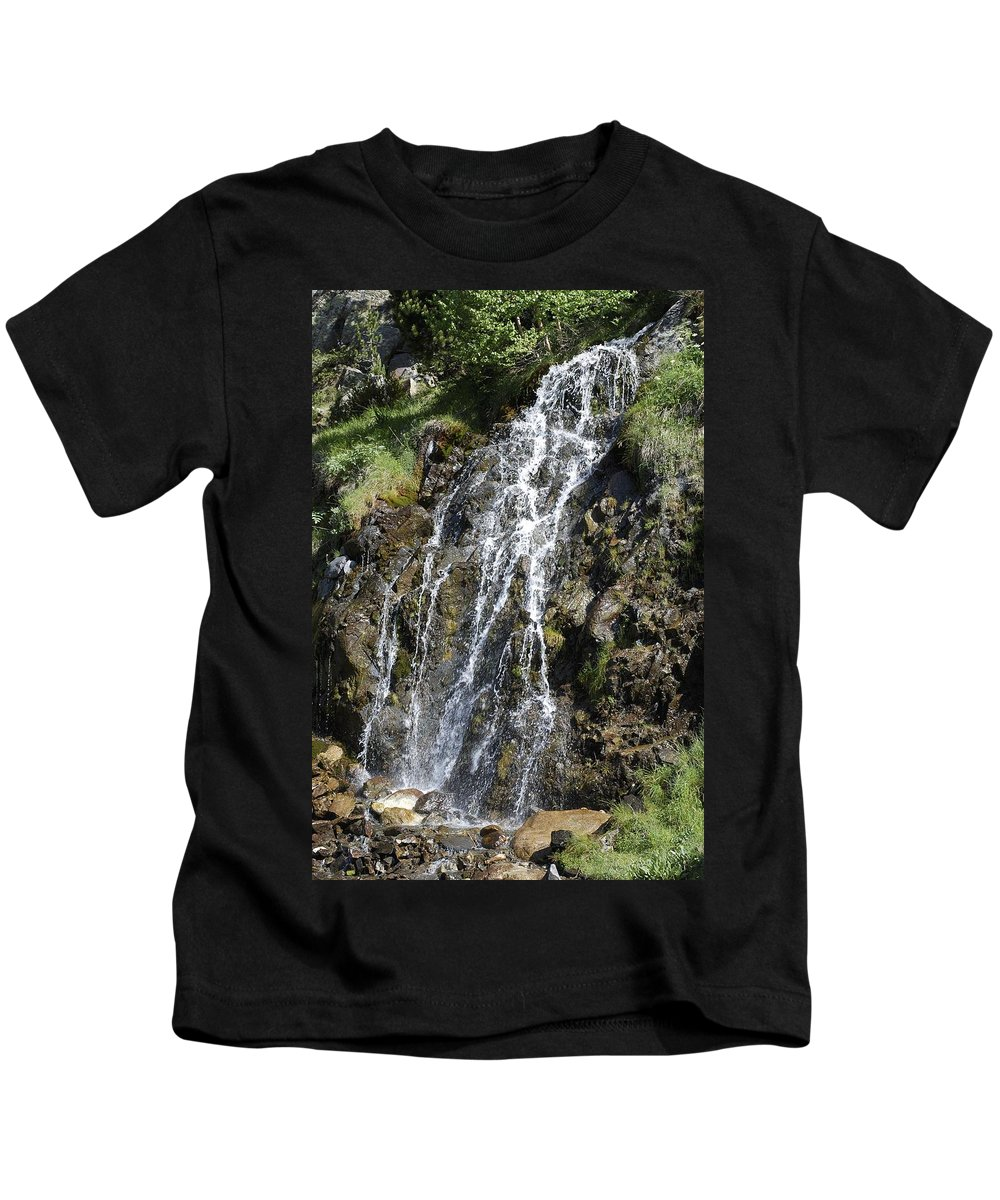 Waterfall Kids T-Shirt featuring the photograph Waterfall by Gina Dsgn