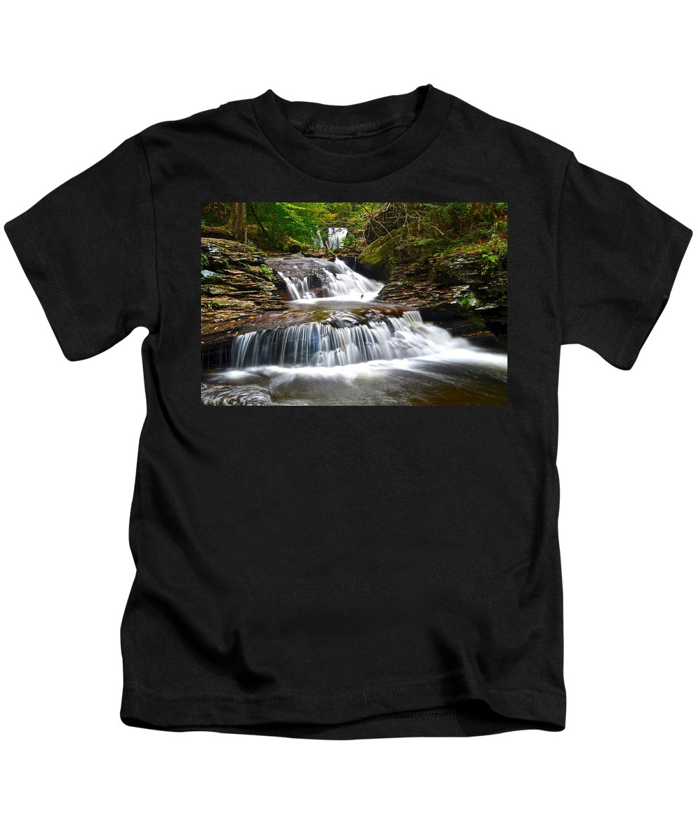 Oasis Kids T-Shirt featuring the photograph Waterfall Oasis by Frozen in Time Fine Art Photography