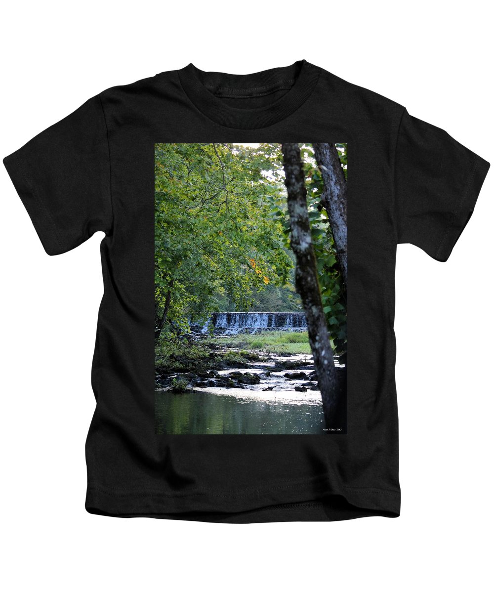Waterfalls Kids T-Shirt featuring the photograph Waterfalls At Dusk 2012 by Maria Urso