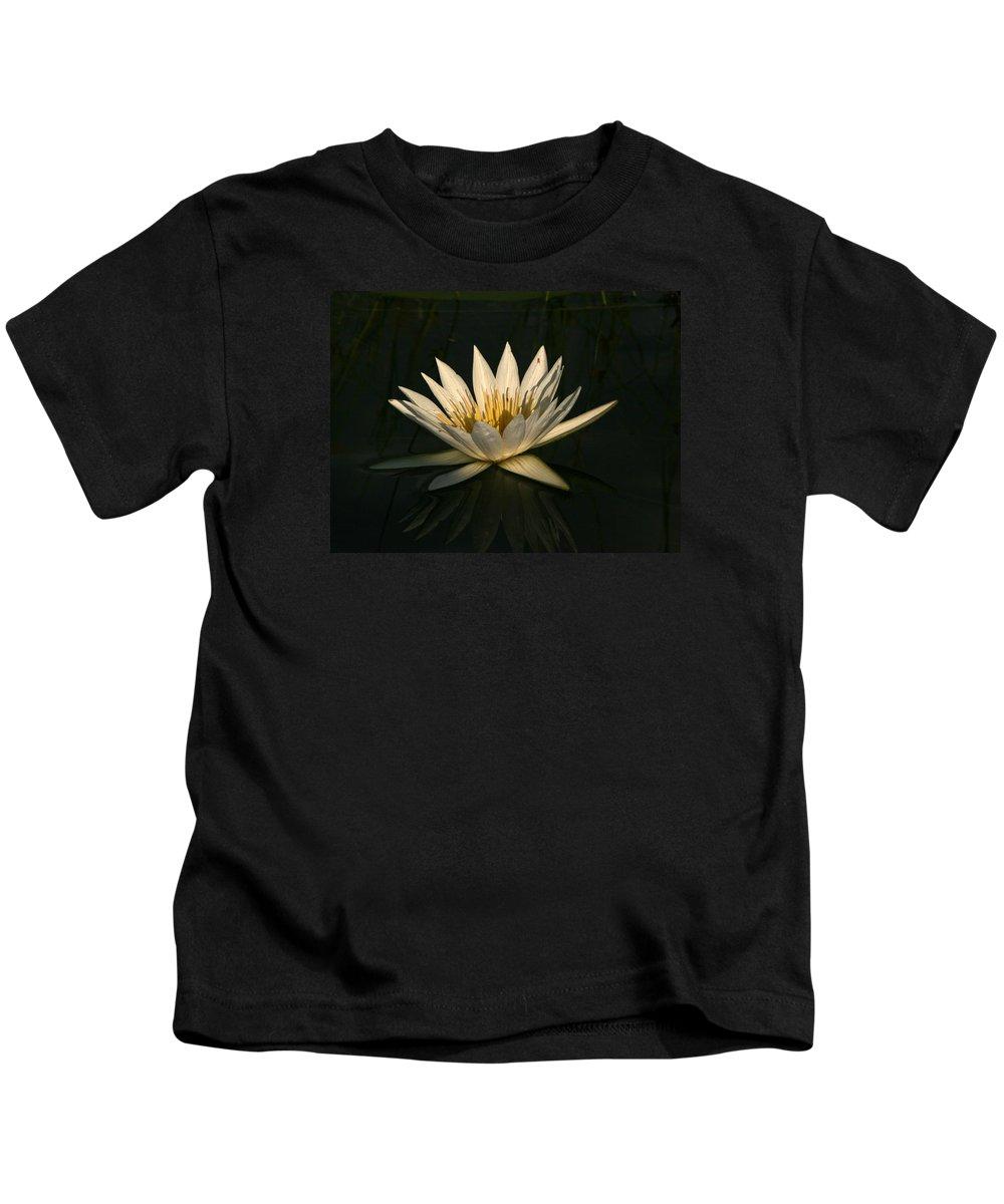 Karen Zuk Rosenblatt Art And Photography Kids T-Shirt featuring the photograph Waterlilly 7 by Karen Zuk Rosenblatt