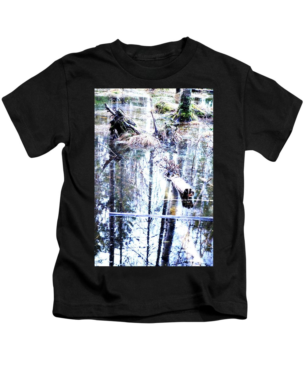 House Kids T-Shirt featuring the photograph When The Nature Is Deep And Waterproof by Hilde Widerberg