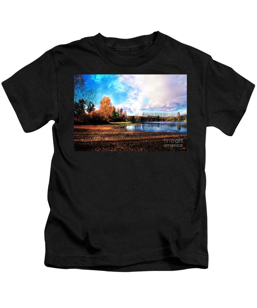 Landscape Kids T-Shirt featuring the photograph Waughop Lake by Earl Johnson