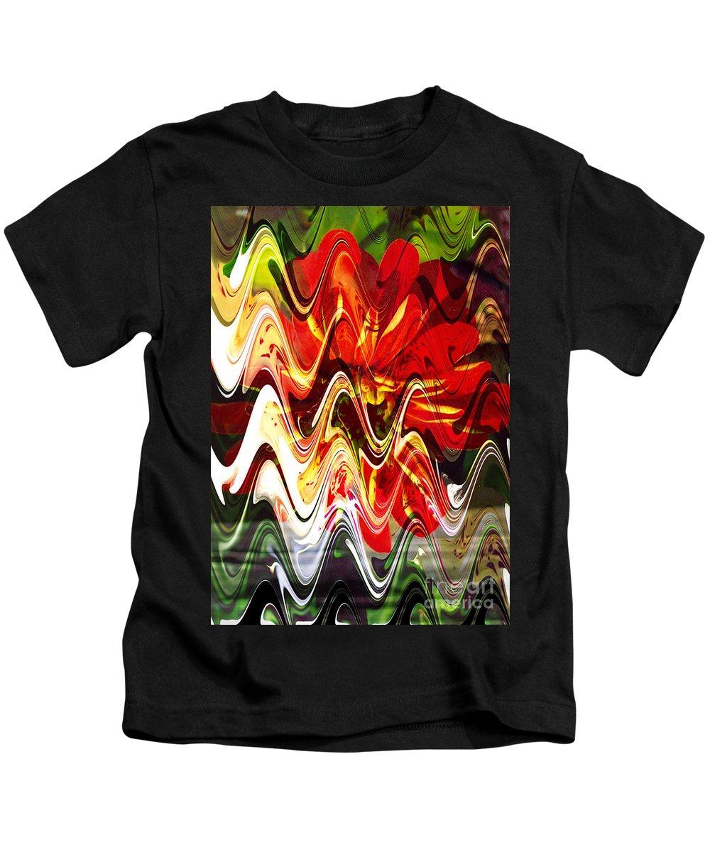 Digital Image Kids T-Shirt featuring the digital art Waves by Yael VanGruber