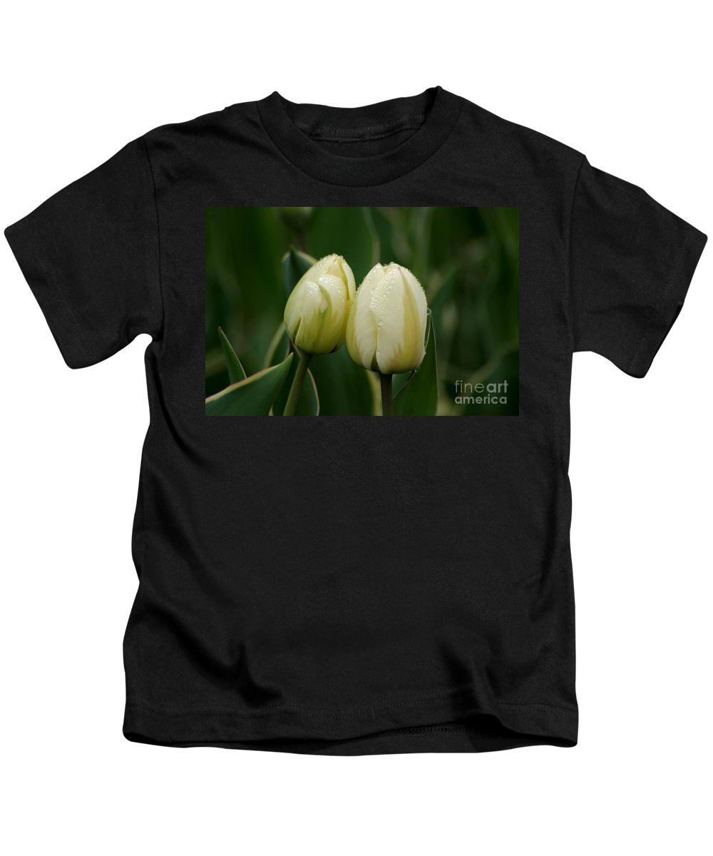 Tulips Kids T-Shirt featuring the photograph We Belong Together by Living Color Photography Lorraine Lynch