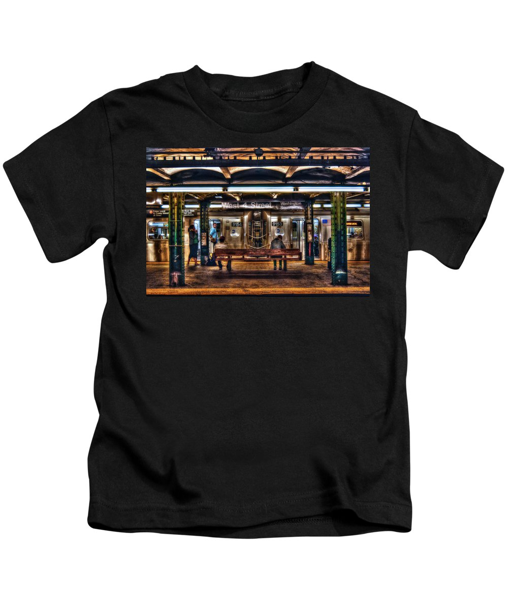 Manhattan Kids T-Shirt featuring the photograph West 4th Street Subway by Randy Aveille