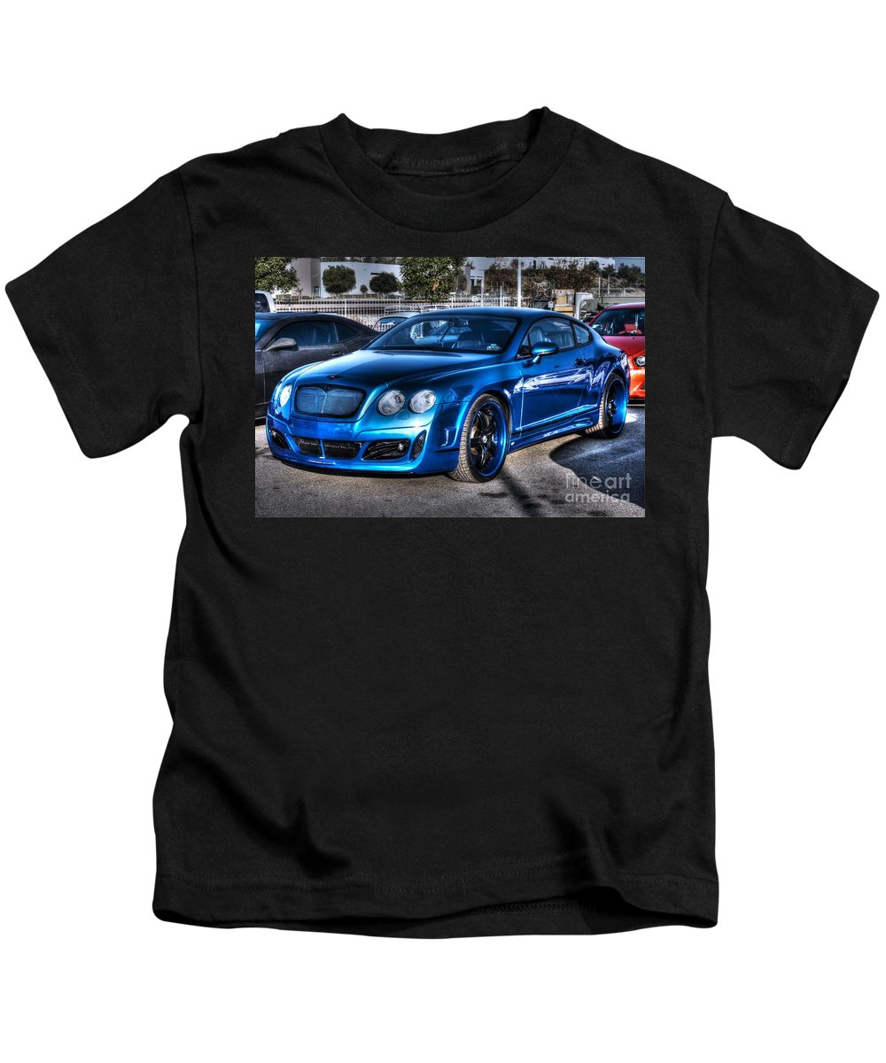 2009 Kids T-Shirt featuring the photograph West Coast Bently Cgt by Tommy Anderson