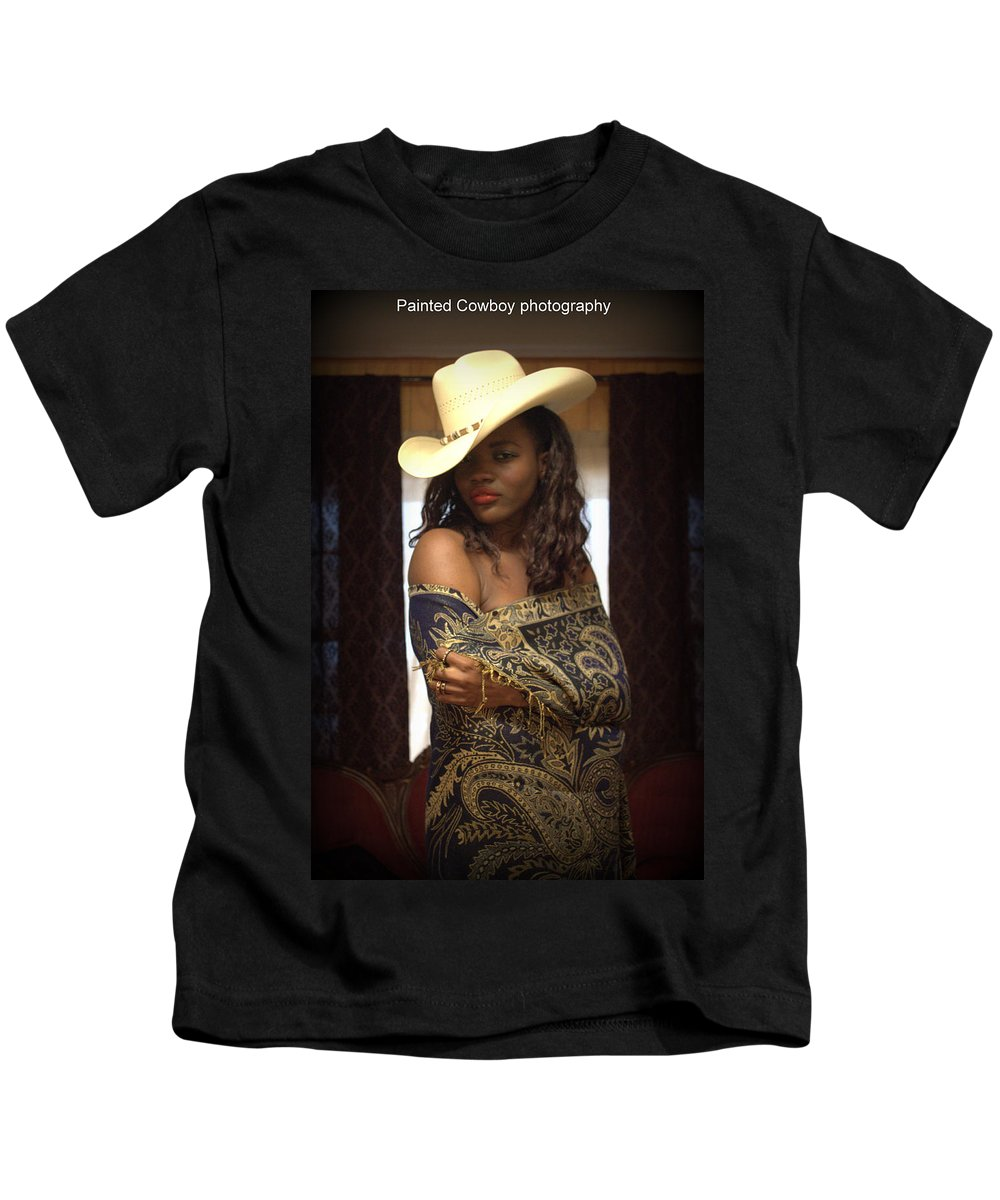 Woman Kids T-Shirt featuring the photograph West Was Won by Daniel Jakus