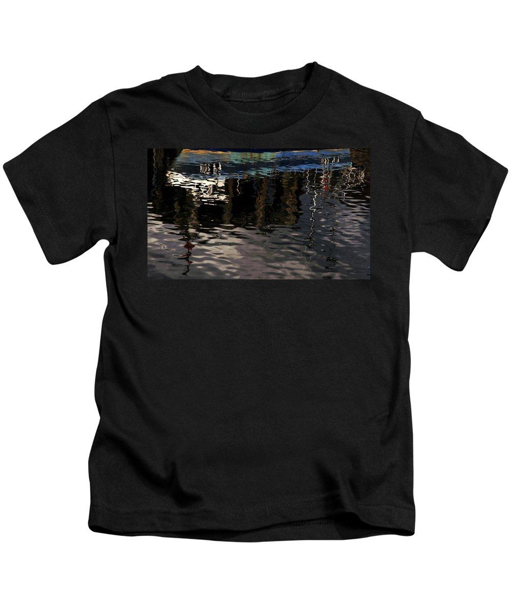 Contemporary Kids T-Shirt featuring the photograph wet fishing boat,kyle of lochalsh Scotland by Clive Beake