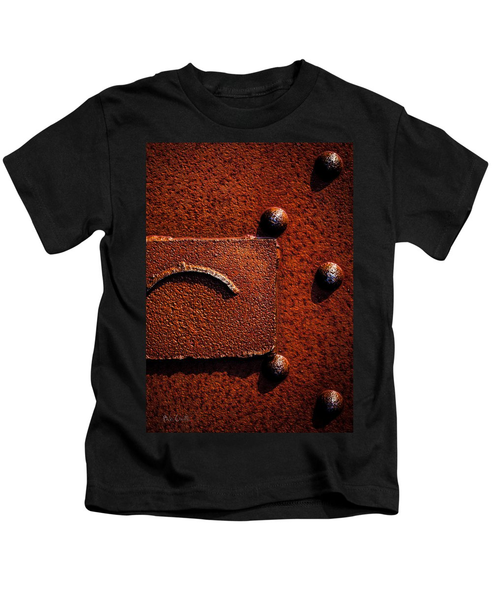 Abstract Kids T-Shirt featuring the photograph Wet Rust by Bob Orsillo
