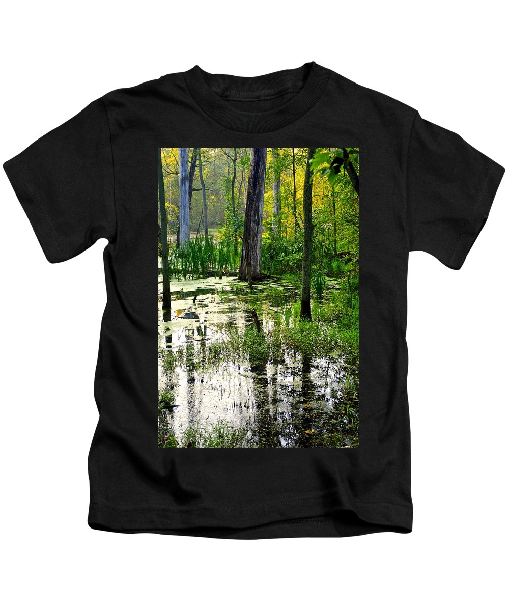Wetlands Kids T-Shirt featuring the photograph Wetlands by Frozen in Time Fine Art Photography