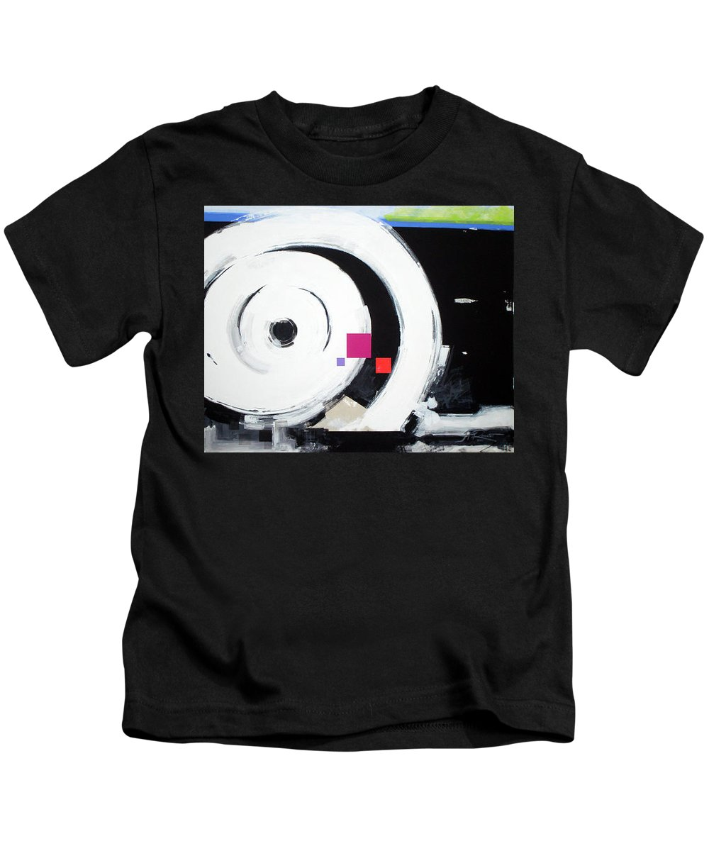Abstract Kids T-Shirt featuring the painting Wheel of Fortune by Jean Pierre Rousselet