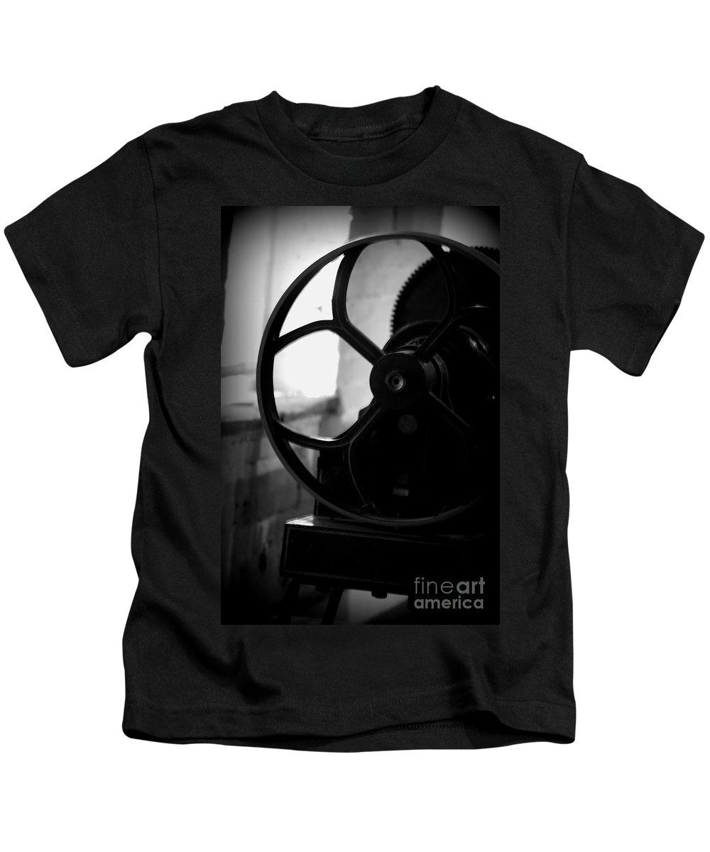 Kids T-Shirt featuring the photograph Wheels Of Production by Beth Phifer