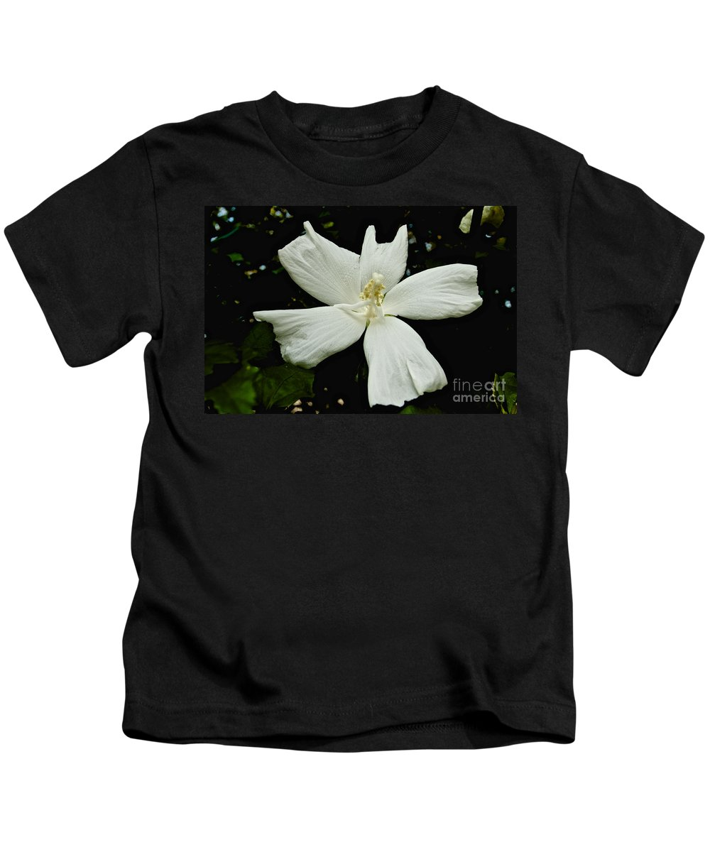 Flower Kids T-Shirt featuring the photograph White Flower by William Norton