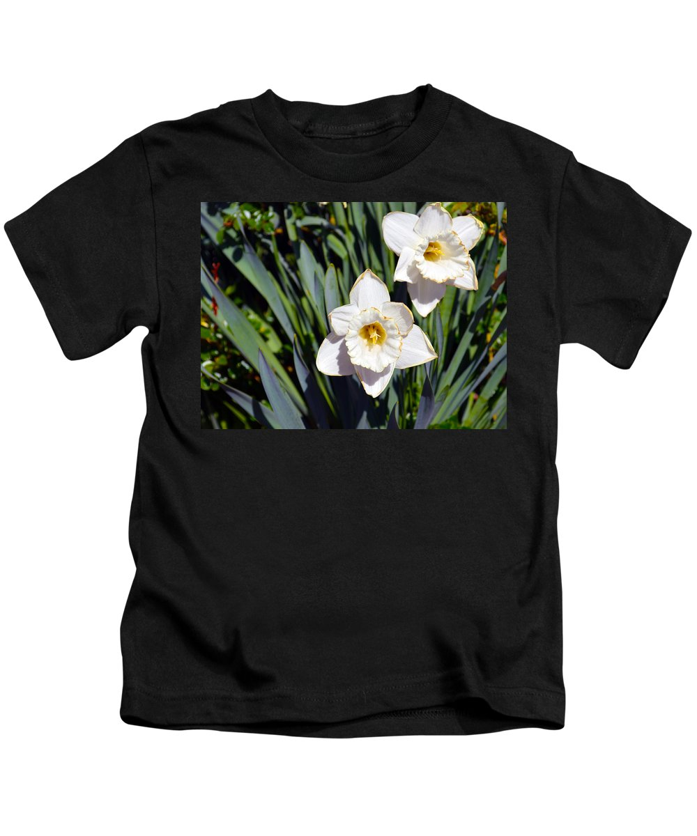 Flower Kids T-Shirt featuring the photograph White Flowers by Brent Dolliver