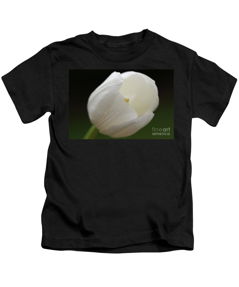 White Kids T-Shirt featuring the photograph White Tulip 2 by Carol Lynch