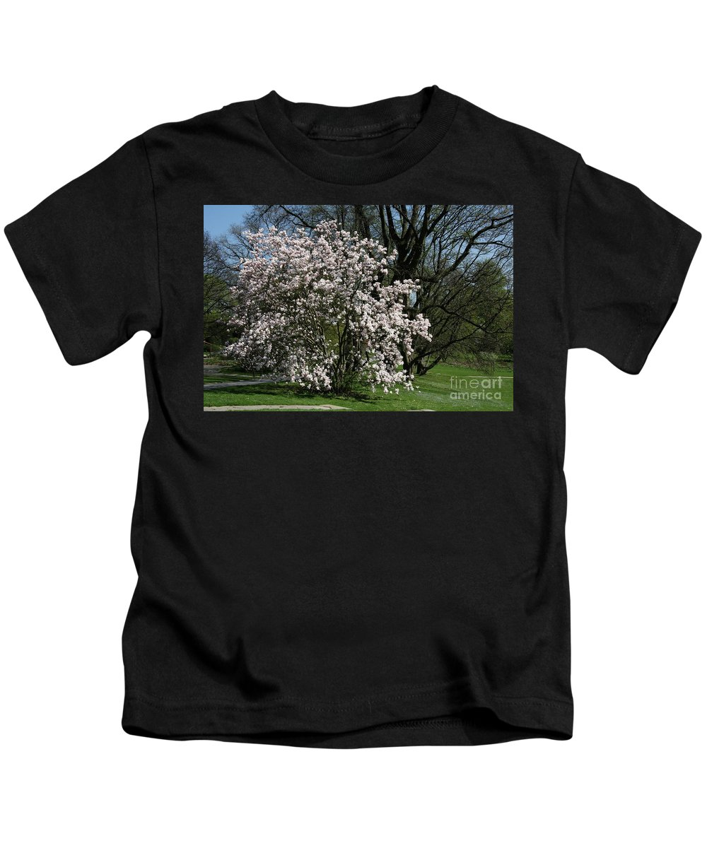 Tree Kids T-Shirt featuring the photograph White Tulip Tree by Christiane Schulze Art And Photography