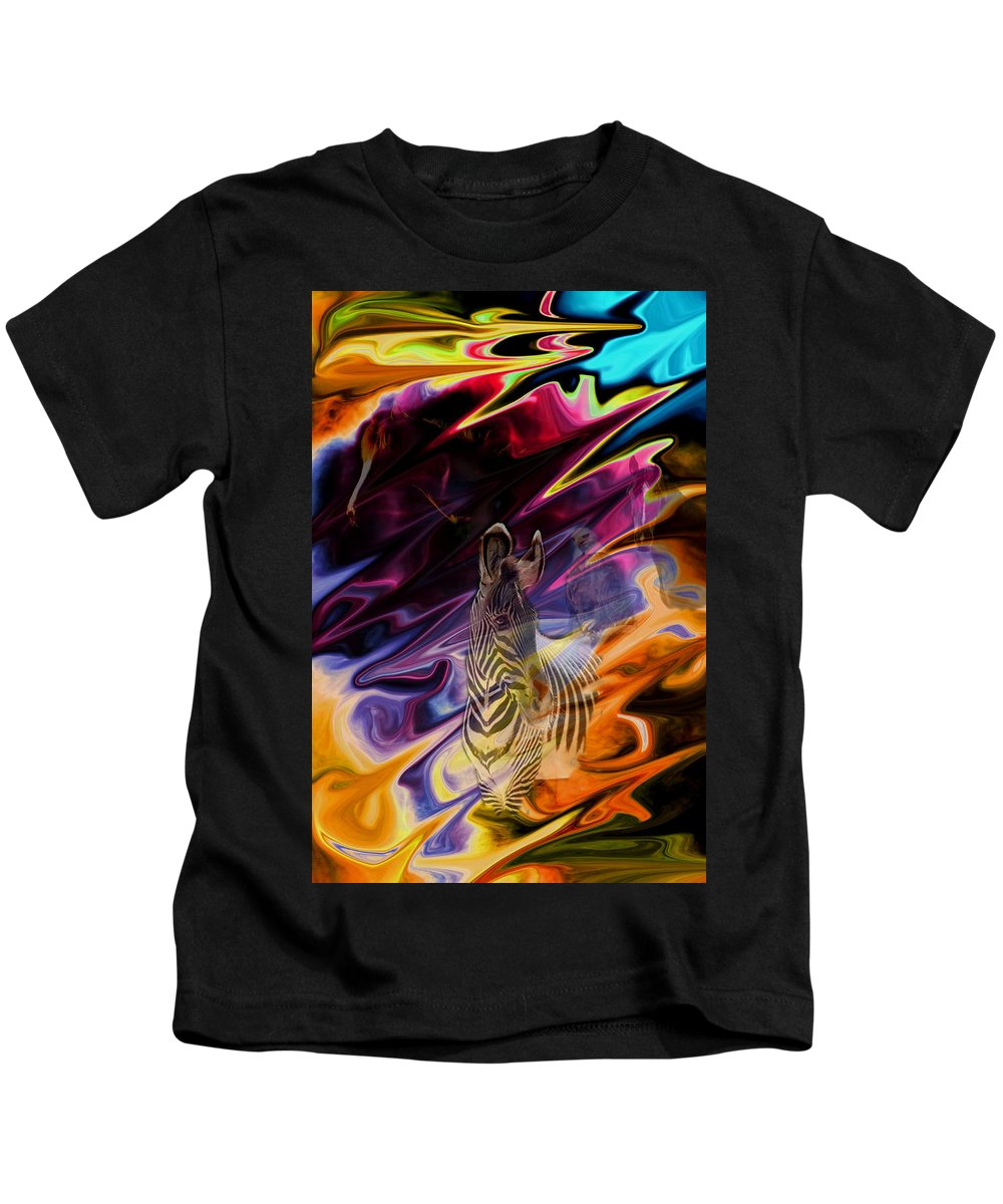 Abstract Kids T-Shirt featuring the photograph Wild Places by Aidan Moran