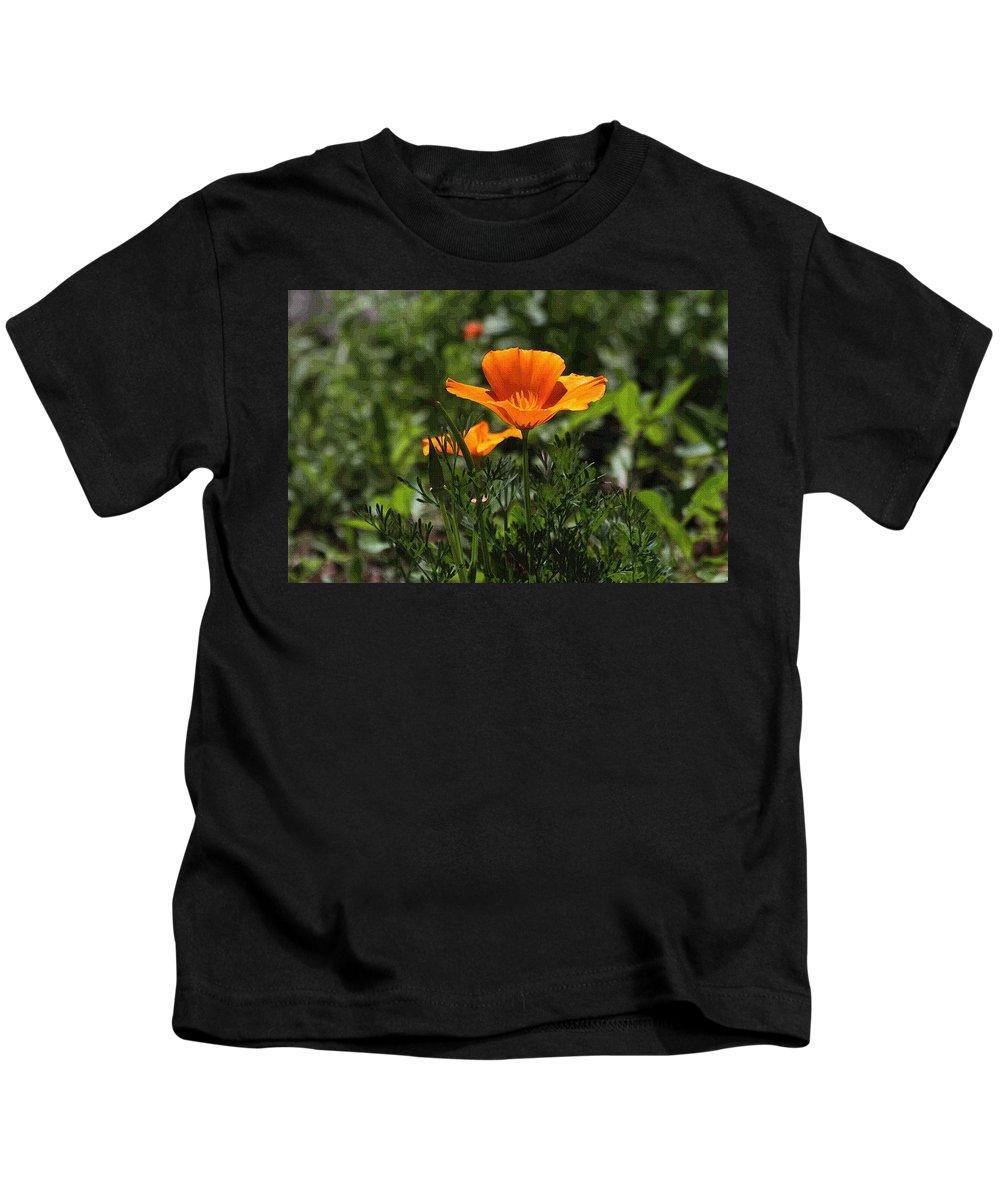 Wild Poppy Kids T-Shirt featuring the photograph Wild Poppy by Tom Janca
