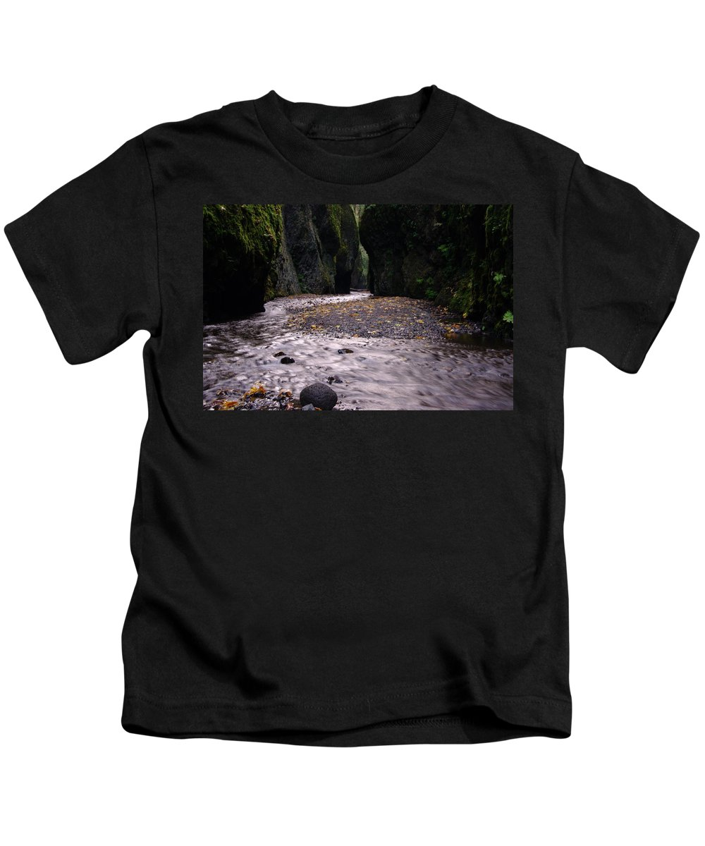Oregon Kids T-Shirt featuring the photograph Winding Through Oneonta Gorge by Jeff Swan