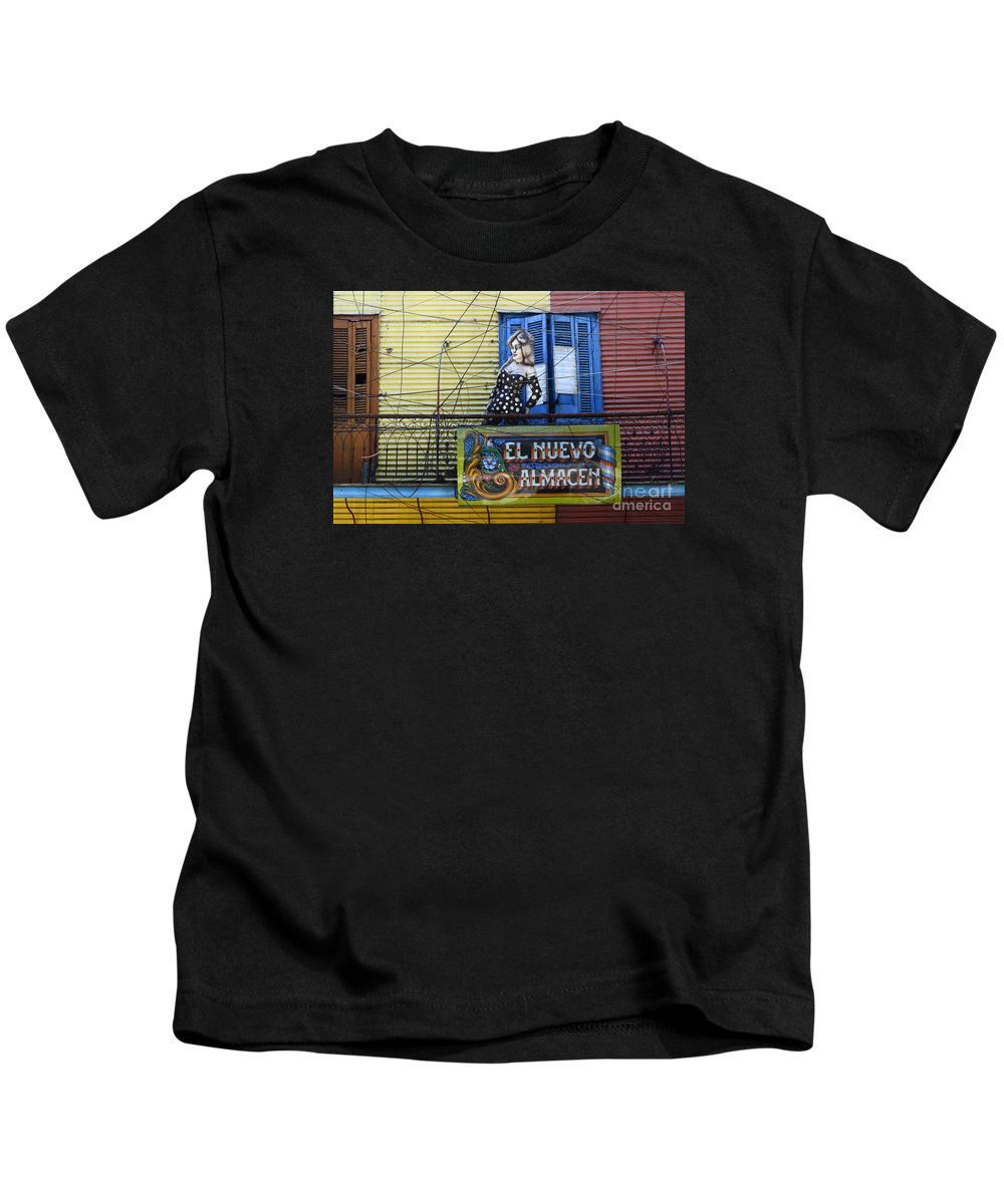 Door Kids T-Shirt featuring the photograph Windows And Doors Buenos Aires 17 by Bob Christopher