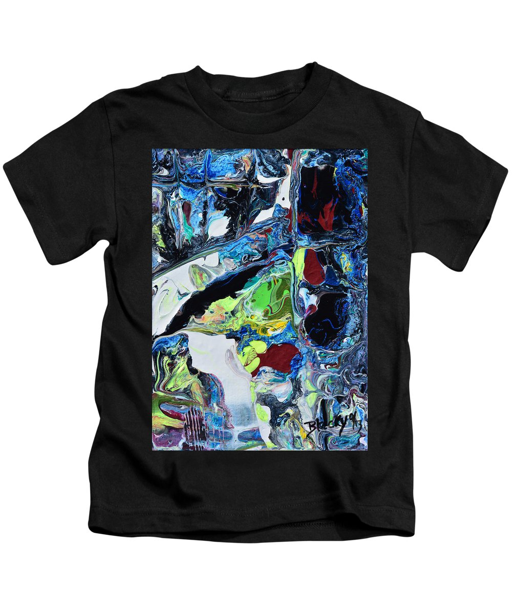 Modern Kids T-Shirt featuring the painting Windows And Waterfalls by Donna Blackhall