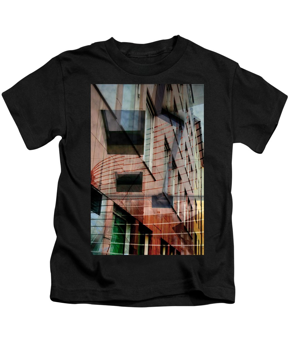 Abstract Art Kids T-Shirt featuring the photograph Windows Of Shine by The Artist Project
