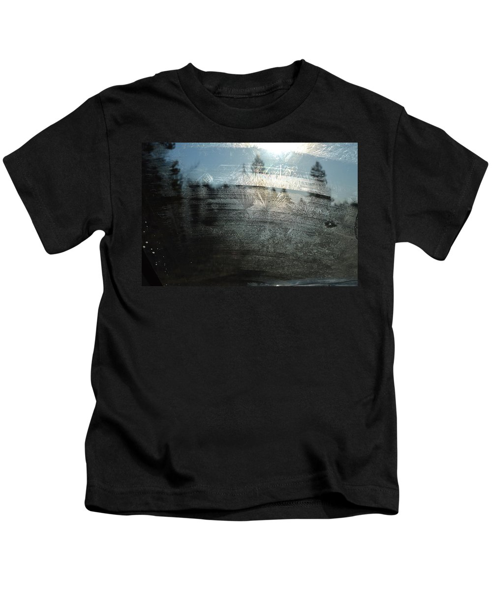Windshield Kids T-Shirt featuring the photograph Windshield Work by Brian Boyle