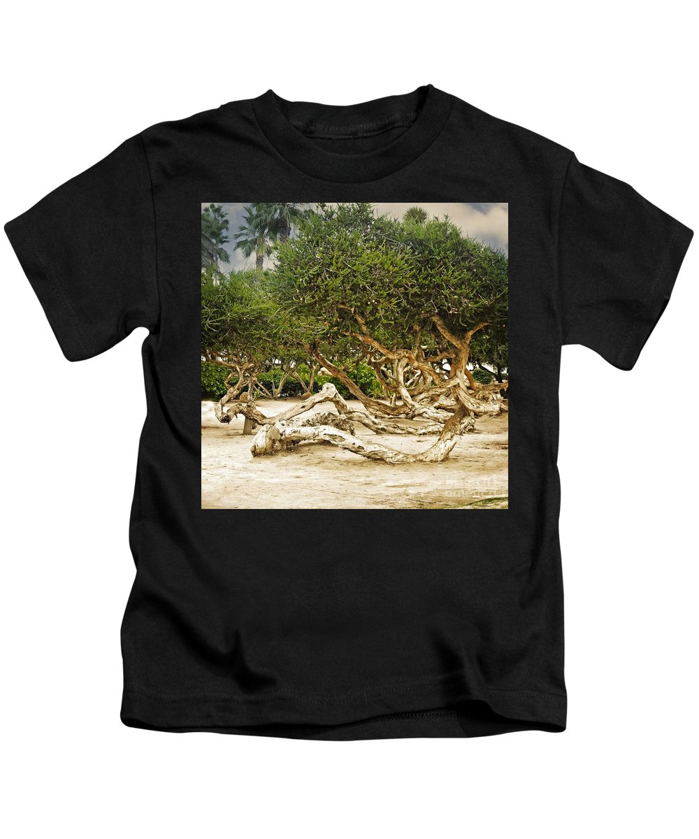 Windswept Kids T-Shirt featuring the photograph Windswept by Mary Machare