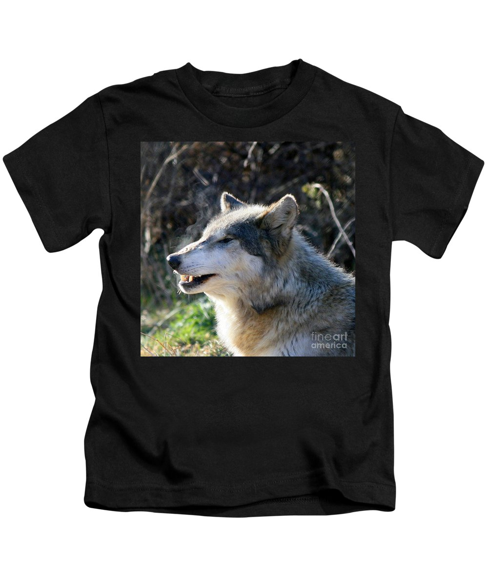 Wolf Kids T-Shirt featuring the photograph Winter Breathing by Neal Eslinger